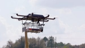 A UPS drone